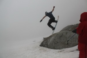 летний джиббинг по дороге на вершину ледника