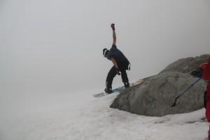 элементы фристайла на леднике