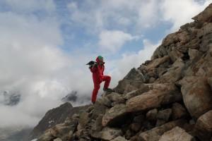 последний этап восхождения на ледник