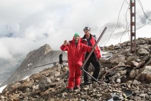 фотосессия перед спуском с ледника