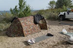 наш лагерь на Иссык-Куле близ Тамги