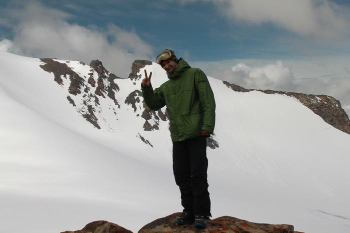 наивысшая точка горнолыжной базы на Большом Ала-Арчинском леднике
