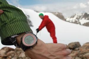 верхняя точка спуска с ледника. 3866 метров