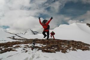 Большой Ала-Арчинский ледник. Вершина ныне погребенной канатки.