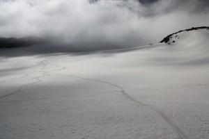 спуск на сноубордах с Большого Ала-Арчинского ледника