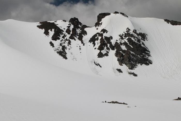 небольшие лавины на Большом Ала-Арчинском леднике