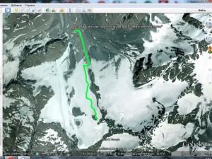маршрут пешего подъема на Большой Ала-Арчинский ледник