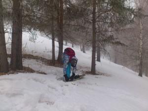 Катание на сноуборде в Ак-Тюзе.