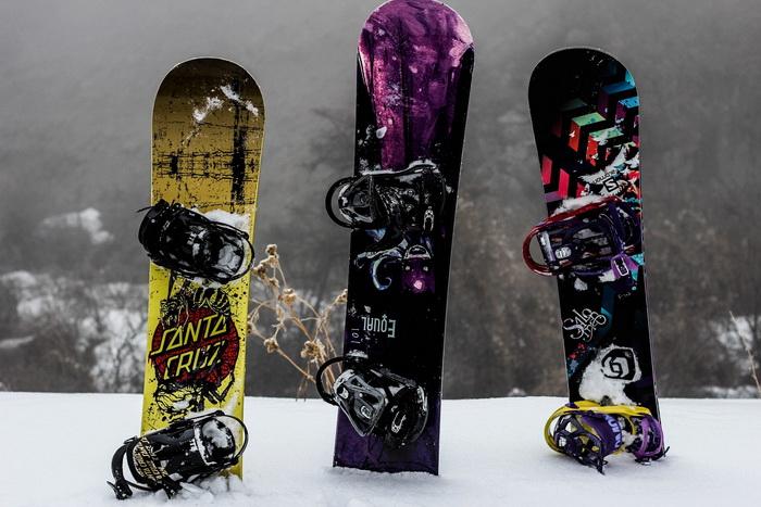Фрирайд на сноубордах в Ак-Тюзе.