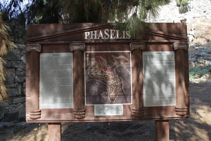Фаселис. Карта античного города.