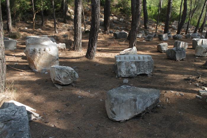Остатки сооружений города Фаселис.