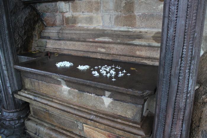 Анурадхапура. Храм Инсурмуния. Алтарь.