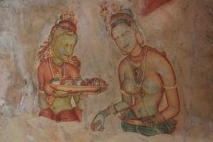 Шри-Ланка. Сигирия. Фрески.