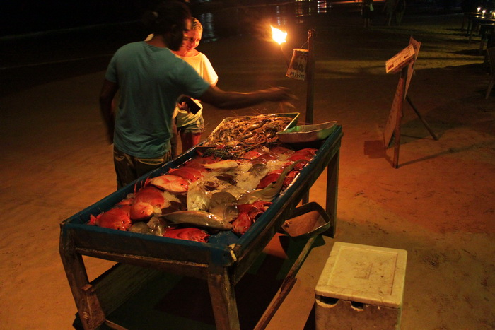 Мирисса. Рыба, крабы, лобстеры, креветки.