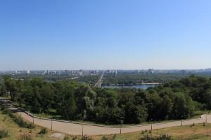 Киев. Вид с обзорной площадки Парка Славы.
