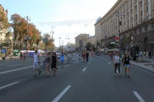 Киев. Пешеходный Крещатик.