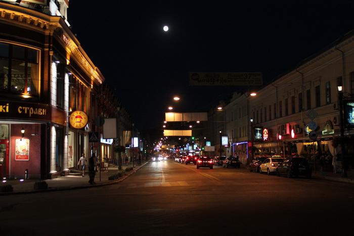 Ночной Киев.