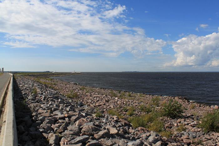 По дороге в Кронштадт. Финский залив.