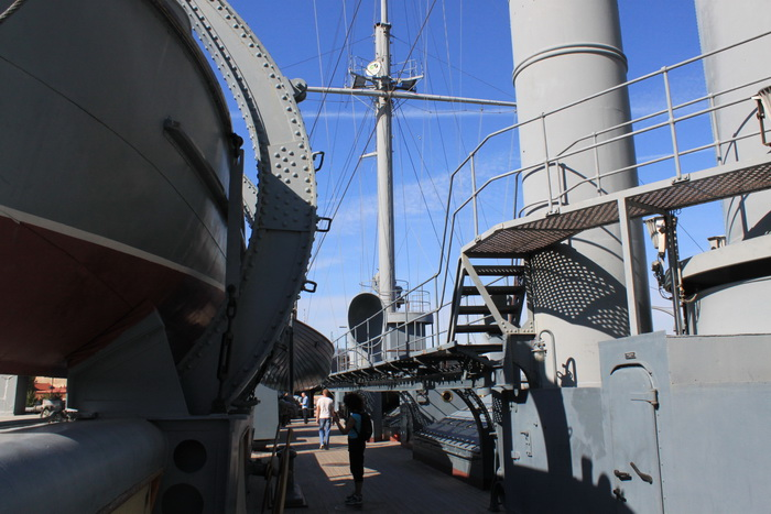 Санкт-Петербург. Крейсер Аврора. Палуба.