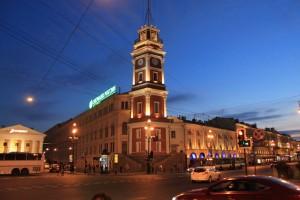 Санкт-Петербург. Невский проспект. Подсветка.