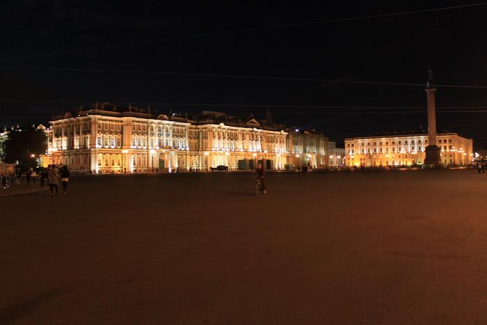 Санкт-Петербург. Дворцовая площадь подсветка.