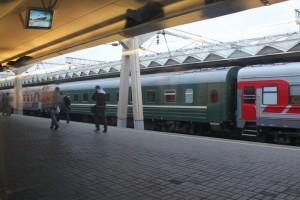 Москва. Перрон Ленинградского вокзала.