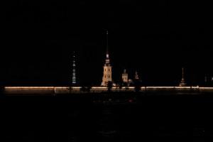 Санкт-Петербург. Петропавловская крепость подсветка.