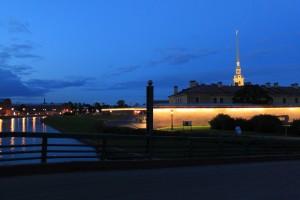 Санкт-Петербург на закате.