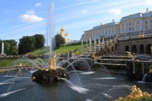 Петергоф. Большой Петергофский дворец и Большой каскад фонтанов.