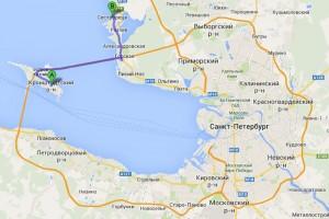Санкт-Петербург - Кронштадт - Сестрорецк. План маршрута.