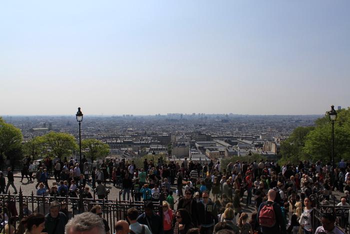 Париж. Панорамный вид с холма Монмартр.