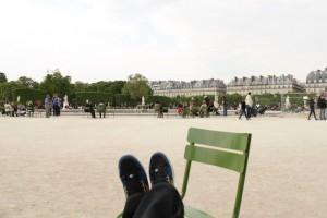 Париж. Парк Тюильри. Отдыхаю.