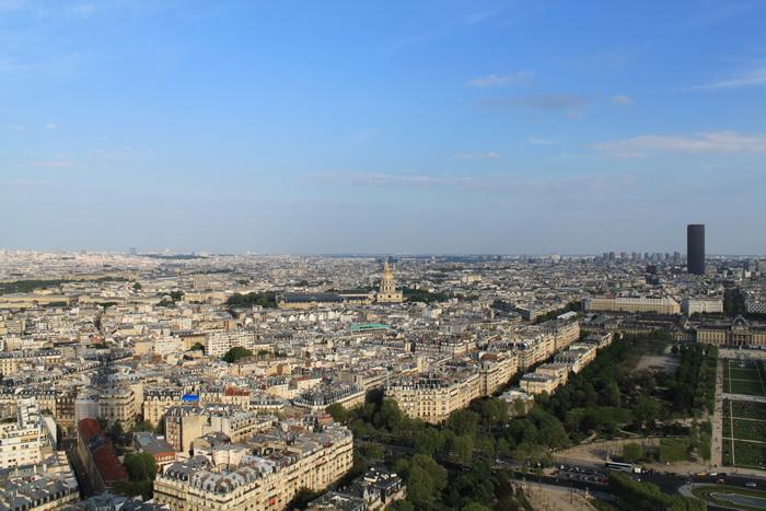 Париж. Вид с Эйфелевой башни.
