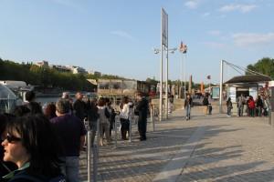 Париж. Станция отправки речных трамвайчиков.