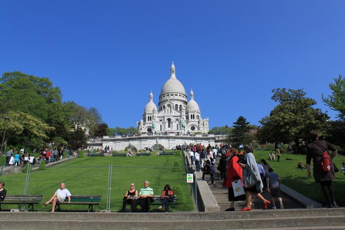 Париж. Монмартр. Базилика Сакре-Кёр.
