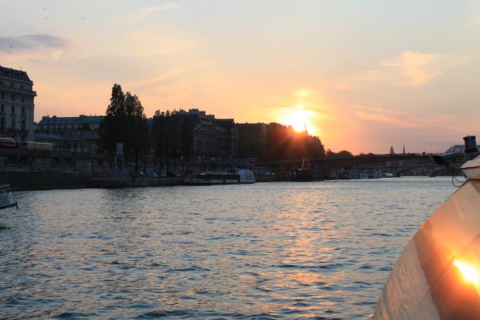 Париж. Сена. Закат.