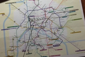 Париж. Карта метро.