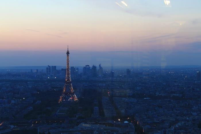 Париж. Эйфелева Башня. Вид с небоскреба Монпарнас.
