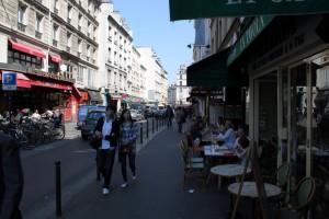 Париж. Площадь Бастилии. Улочки к площади.
