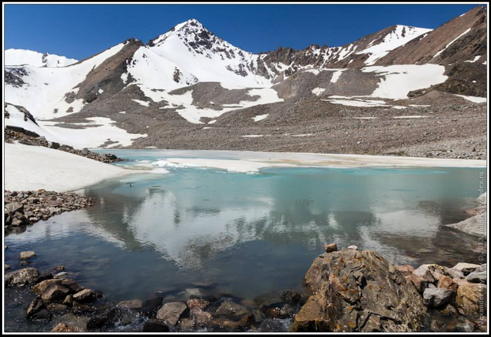 Киргизия. Озеро Адыгене.