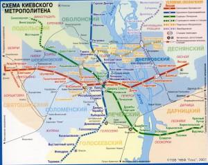 Карта метро Киева.