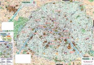 Туристическая карта Парижа.