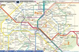 Карта парижского метро.