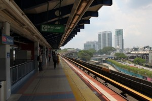 Малайзия. Куала-Лумпур. Станция метро LRT.