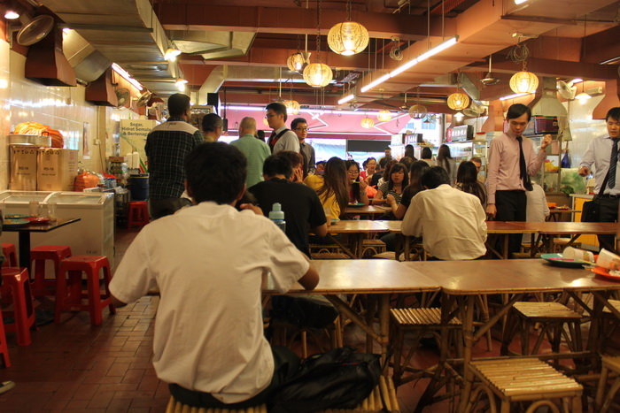 Куала-Лумпур. Чайнатаун. Китайская забегаловка.