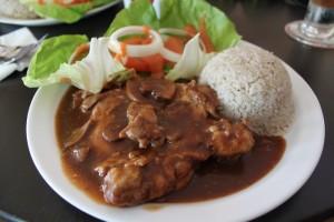 Путраджая. Чиккен карри с рисом.