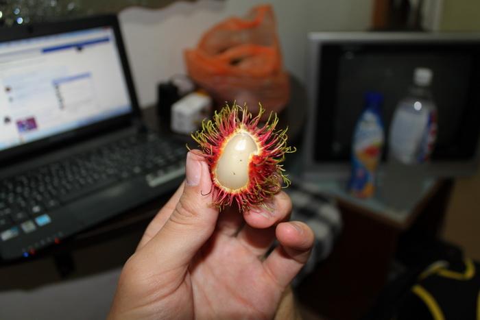 Куала-Лумпур. Экзотические фрукты. Рамбутан.