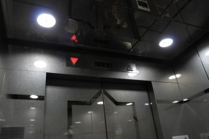 Куала-Лумпур. Скоростной лифт в телебашне Менара.