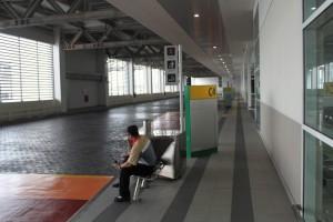 Куала-Лумпур. На перроне автовокзала Terminal Bersepadu Selatan.