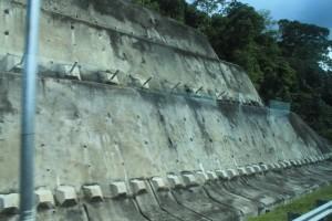 Малайзия. Противоселевые сооружения по дороге в Мерсинг.